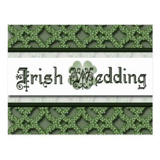 Irish Wedding Invitation Post Card