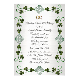 Irish wedding Invitation Unity knot