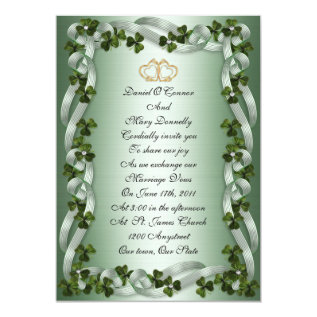 Irish Wedding Invitations Elegant at Zazzle