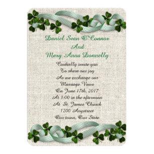 Irish Wedding Invitations Linen Elegant