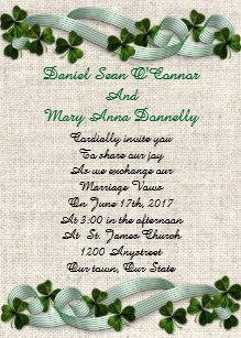 irish wedding invitations zazzle