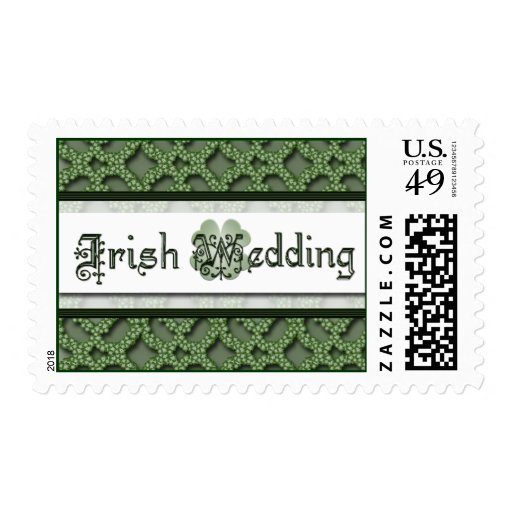 Irish Wedding Postage Stamp