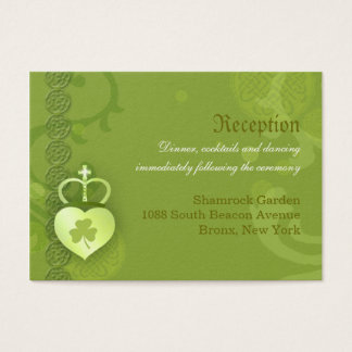 Irish Wedding Reception Enclosure Business Card