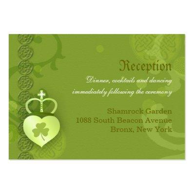 Irish Wedding Reception Enclosure Cards  3.5x2.5  Large Business Card