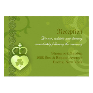 Irish Wedding Reception Enclosure Cards (3.5x2.5) Large Business Cards (Pack Of 100)