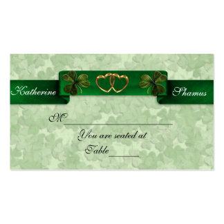 Irish Wedding seating card shamrocks Business Card