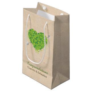 Wedding Gift Bags Ireland : Irish Wedding Shamrock Heart Small Gift Bag