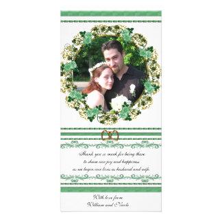 Irish Wedding Thank you Photo Card floral design