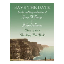 Irish Wedding Theme Cliffs of Moher Save the Date Post Cards at  Zazzle