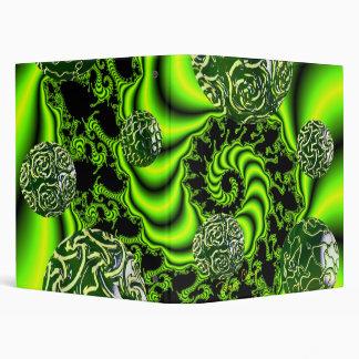 Irish Whirl - Abstract Emerald Dance 3 Ring Binders
