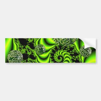 Irish Whirl - Abstract Emerald Dance Bumper Sticker