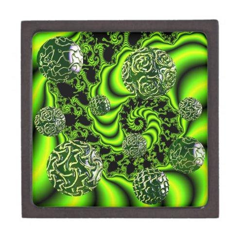 Irish Whirl - Abstract Emerald Dance Gift Box
