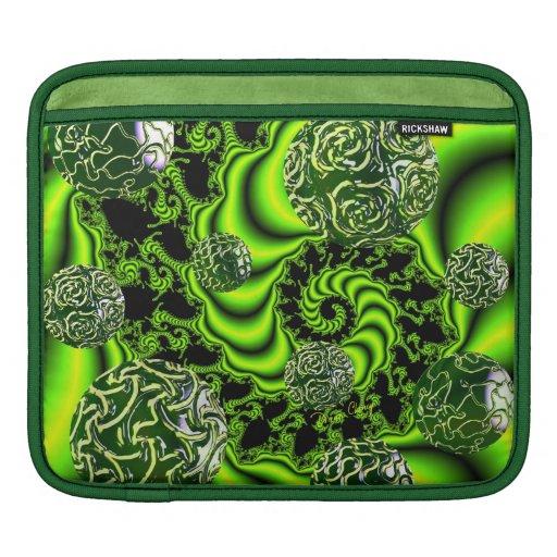 Irish Whirl - Abstract Emerald Dance iPad Sleeves