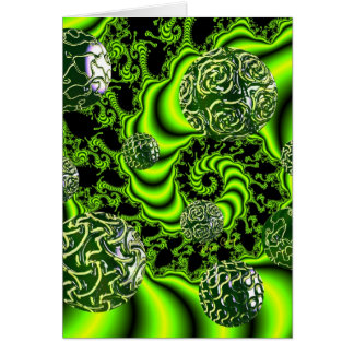 Irish Whirl - Abstract Emerald Dance Lime Card