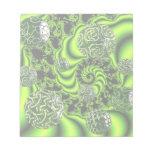 Irish Whirl - Abstract Emerald Dance Memo Notepads