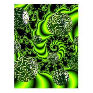 Irish Whirl - Abstract Emerald Dance Postcard