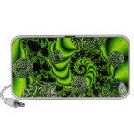 Irish Whirl - Abstract Emerald Dance Portable Speaker