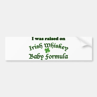 Irish Whiskey Baby Formula Bumper Sticker