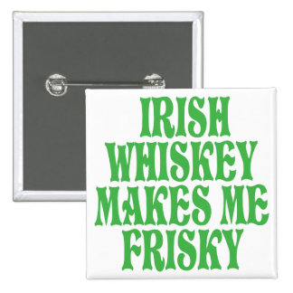 Irish Whiskey 2 Inch Square Button
