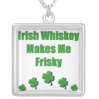 Irish Whiskey Green Custom Necklace