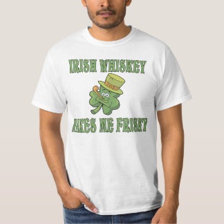 Funny st patricks day t shirts shirt designs zazzle for Irish whiskey makes me frisky t shirt