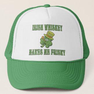 Irish Whiskey Makes Me Frisky Trucker Hat