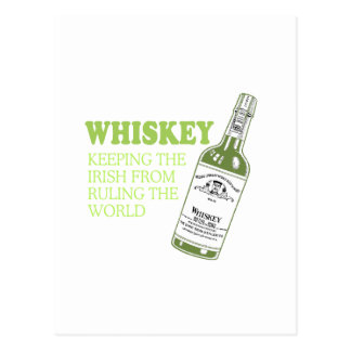 IRISH WHISKEY POSTCARD