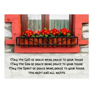 Irish Window and Blessing for Peace Postcard