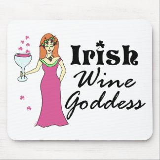 """Irish Wine Goddess"" St. Patrick's Day Mouse Pad"