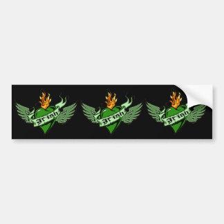 Irish Winged Heart Sticker