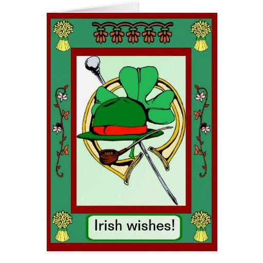 Irish wishes greeting card