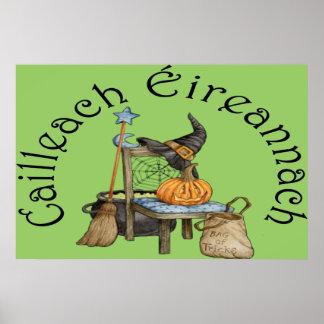 'Irish Witch' in Gaelic Poster