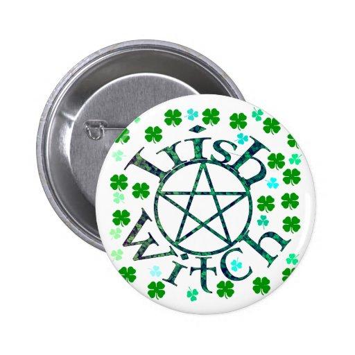 Irish Witch Pinback Button