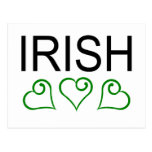 Irish With Hearts Post Card