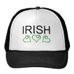 Irish With Hearts Trucker Hat