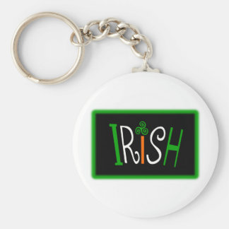 Irish With Triskelion Celtic Symbol And Background Basic Round Button Keychain