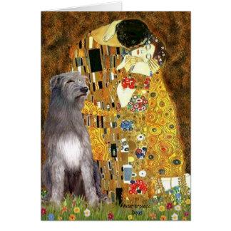 Irish Woldhound 1 - The Kiss Greeting Card