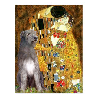 Irish Woldhound 1 - The Kiss Postcards
