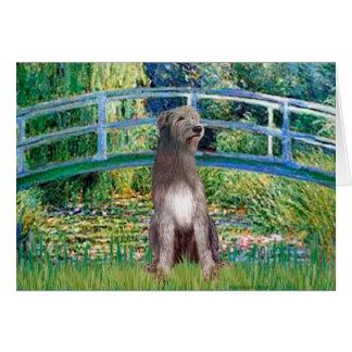 Irish Wolfhound 1 - Bridge Greeting Card