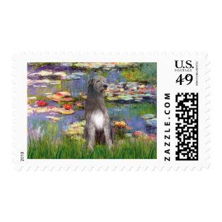 Irish WOlfhound 1 - Lilies 2 Postage