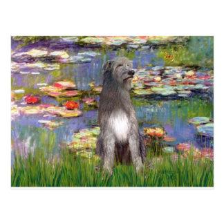 Irish WOlfhound 1 - Lilies 2 Postcard