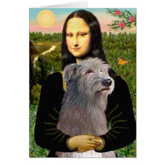 Irish Wolfhound 1 - Mona Lisa Greeting Card