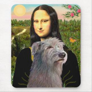 Irish Wolfhound 1 - Mona Lisa Mouse Pad