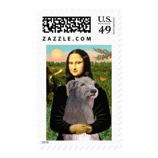 Irish Wolfhound 1 - Mona Lisa Stamp