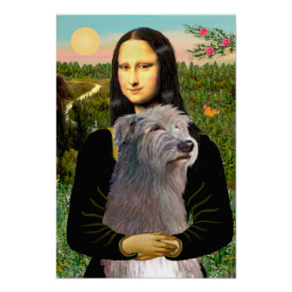 Irish Wolfhound 1 - Mona Lisa Poster