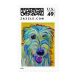 Irish Wolfhound #1 Postage Stamp