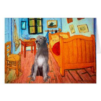 Irish Wolfhound 1 - Room at Arles Greeting Card