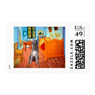 Irish Wolfhound 1 - Room at Arles Postage Stamp