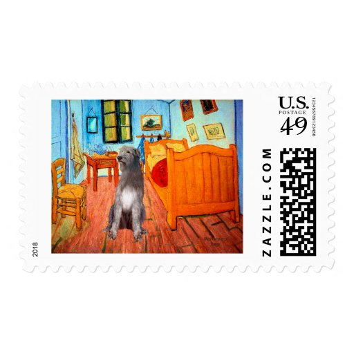 Irish Wolfhound 1 - Room at Arles Postage Stamps