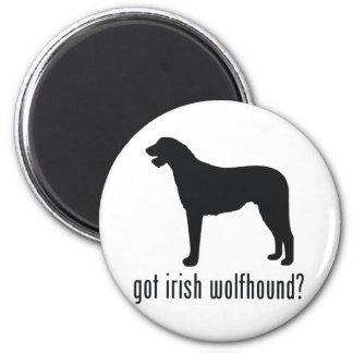 Irish Wolfhound 2 Inch Round Magnet